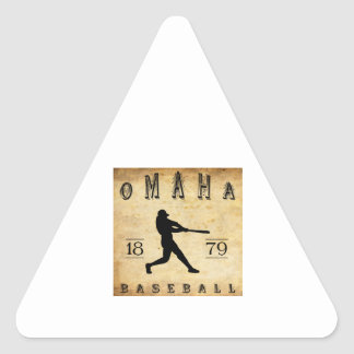 1879 Omaha Nebraska Baseball Triangle Sticker