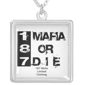 187 mafia neckalace  Limited Clothing Square Pendant Necklace