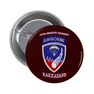 187th Infantry Regiment 6 Cm Round Badge
