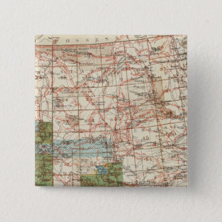 1880 Progress Map of The US Geographical Surveys 15 Cm Square Badge