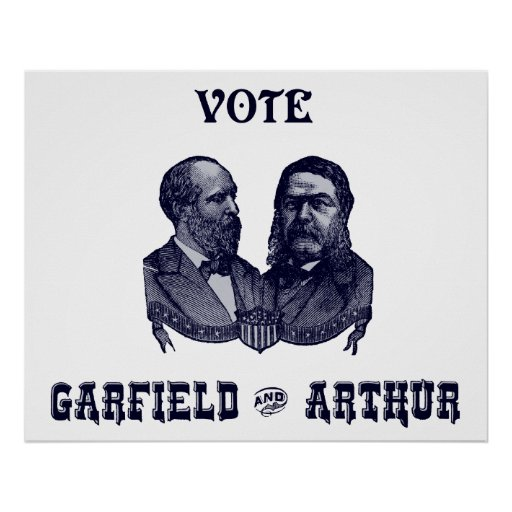 1880 Vote Garfield and Arthur, blue Print