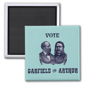 1880 Vote Garfield and Arthur, blue Square Magnet