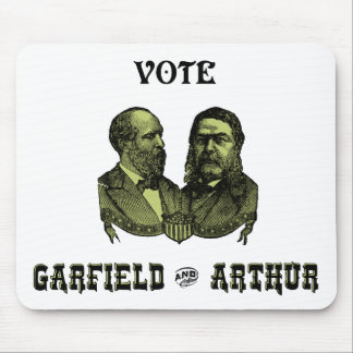 1880 Vote Garfield and Arthur, green Mousepads