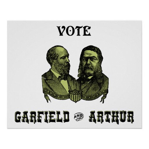 1880 Vote Garfield and Arthur, green Posters