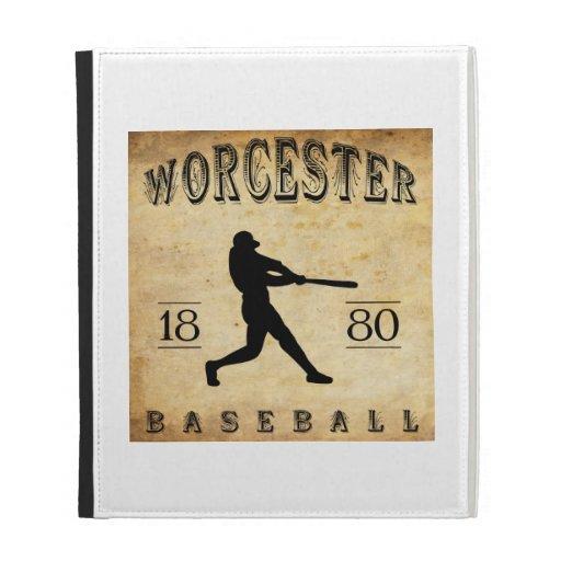 1880 Worcester Massachusetts Baseball iPad Folio Cases