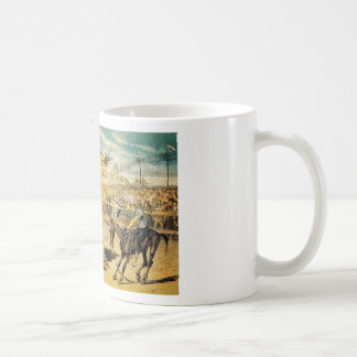 1880s A Tournament of Today Puck Graetz Coffee Mugs