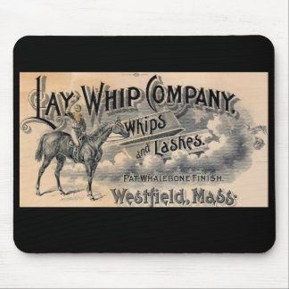 1880s Lay Whip Company billhead Mouse Mat