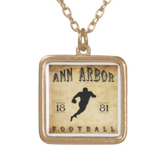 1881 Ann Arbor Michigan Football Necklace