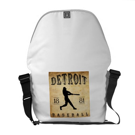 1881 Detroit Michigan Baseball Courier Bag