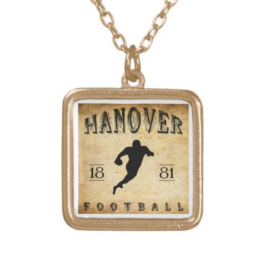 1881 Hanover New Hampshire Football Custom Necklace