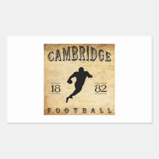 1882 Cambridge Massachusetts Football Rectangle Stickers