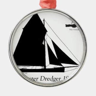 1882 Oyster Dredger - tony fernandes Christmas Ornament