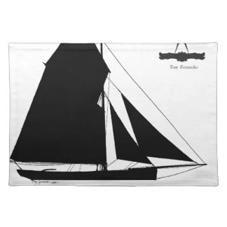 1882 Oyster Dredger - tony fernandes Placemat
