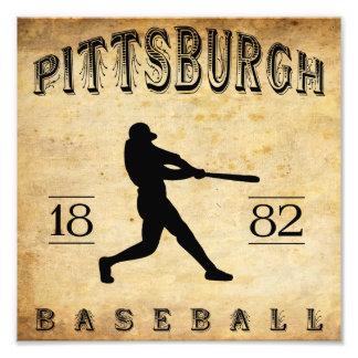 1882 Pittsburgh Pennsylvania Baseball Photograph