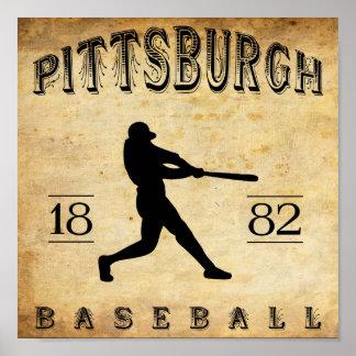 1882 Pittsburgh Pennsylvania Baseball Poster