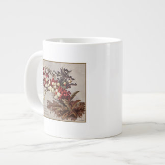 1882: Traditional holly berries Large Coffee Mug