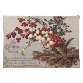 1882: Traditional holly berries Placemat