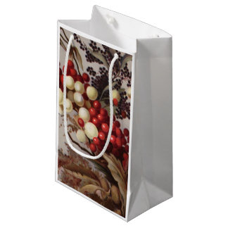 1882: Traditional holly berries Small Gift Bag