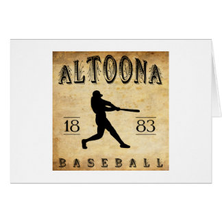 1883 Altoona Pennsylvania Baseball Card