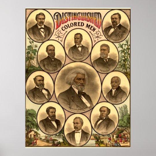 1883 Distinguished Coloured Men Poster