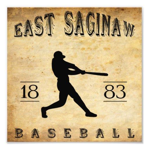 1883 East Saginaw Michigan Baseball Photo Art