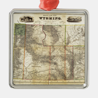 1883 Holt's New Map of Wyoming by Frank Bond Silver-Colored Square Decoration
