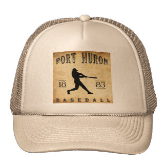 1883 Port Huron Michigan Baseball Cap