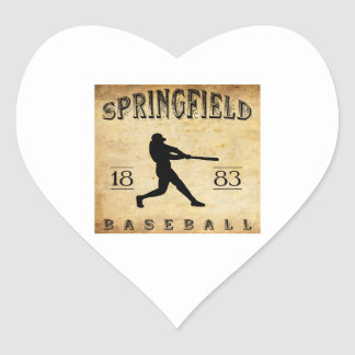 1883 Springfield Illinois Baseball Heart Stickers