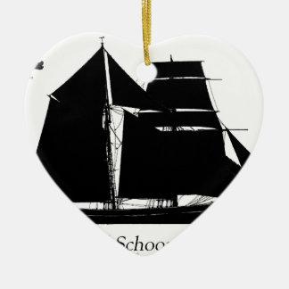 1883 topsail schooner - tony fernandes christmas ornament