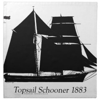 1883 topsail schooner - tony fernandes napkin