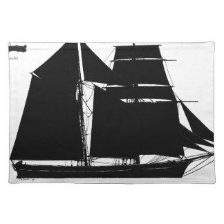 1883 topsail schooner - tony fernandes placemat