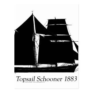 1883 topsail schooner - tony fernandes postcard