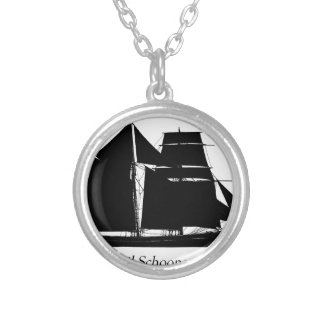 1883 topsail schooner - tony fernandes silver plated necklace