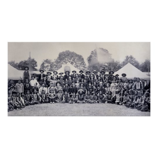 1883 WILD WEST SHOW CAST - BUFFALO BILL