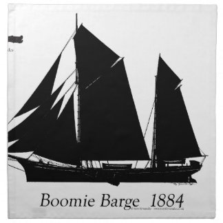 1884 Boomie barge - tony fernandes Napkin