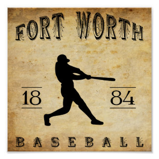1884 Fort Worth Texas Baseball Posters