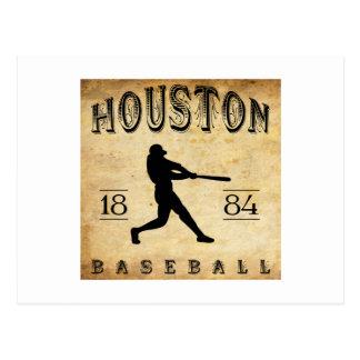 1884 Houston Texas Baseball Postcard