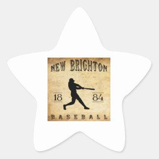 1884 New Brighton Pennsylvania Baseball Star Sticker