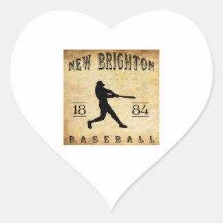 1884 New Brighton Pennsylvania Baseball Sticker