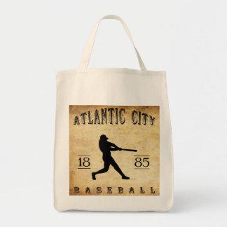 1885 Atlantic City New Jersey Baseball Tote Bags