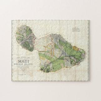 1885 De Witt Alexander Map of Maui, Hawaii Jigsaw Puzzle