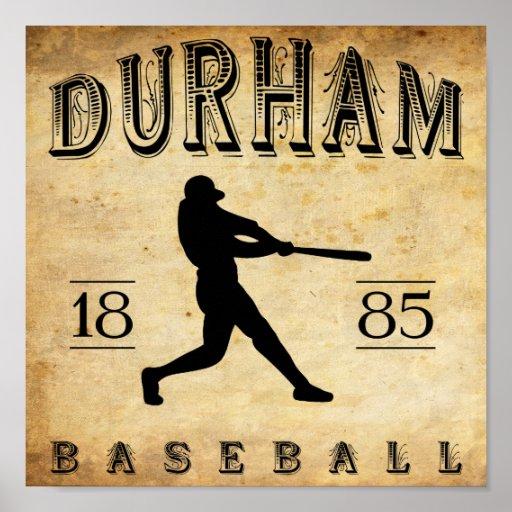1885 Durham North Carolina Baseball Posters
