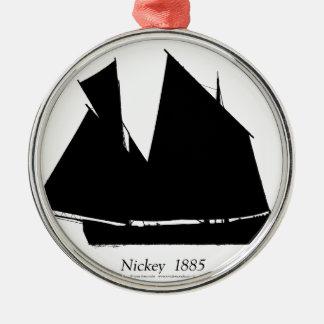 1885 Manx Nickey - tony fernandes Christmas Ornament