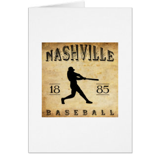 1885 Nashville Tennessee Baseball Greeting Cards