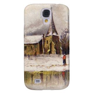 1886: A snowy Victorian winter scene Galaxy S4 Case