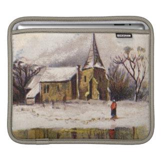 1886: A snowy Victorian winter scene iPad Sleeve