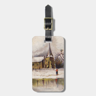 1886: A snowy Victorian winter scene Luggage Tag