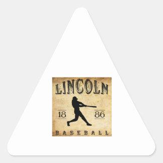1886 Lincoln Nebraska Baseball Triangle Stickers