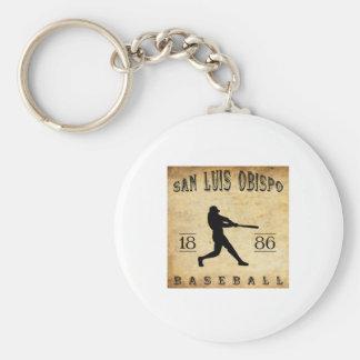 1886 San Luis Obispo California Baseball Basic Round Button Key Ring
