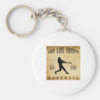 1886 San Luis Obispo California Baseball Keychains